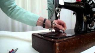 How to thread a Singer long bobbin sewing machine