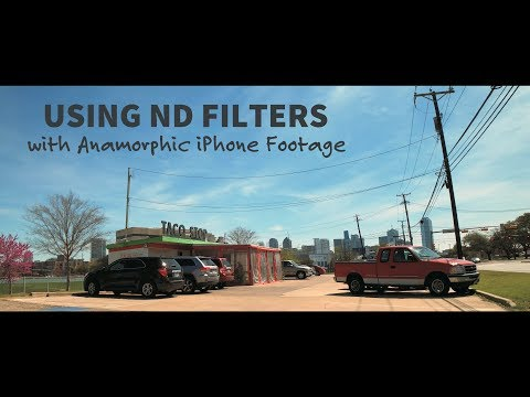 Using ND FILTERS With Anamorphic IPhone Footage