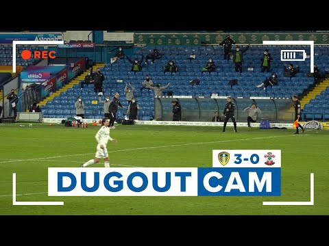 DUGOUT CAM! Bielsa reacts to three goals and VAR overturned penalty | Leeds United 3-0 Southampton