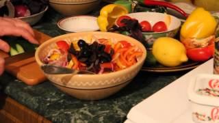 Как приготовить салат греческий с болгарским перцем - рецепт