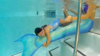 Little girl is a True Mermaid! MiKayla