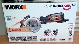 WORX WX427 ESPAÑOL XL 710W SIERRA CIRCULAR DE MANO - UNBOXING ESPAÑOL