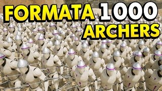 1000 ARCHERS VS 1000 ENGINEERS IN FORMATA! (Formata Funny Gameplay)