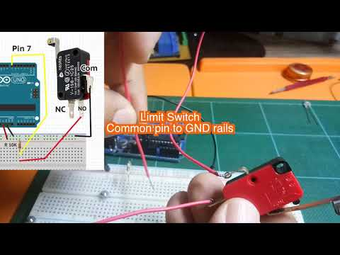 Wiring Limit Switches Arduino Tutorial - YouTube