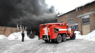 """Пожар в магазине """"Уют"""" в Бердске"""