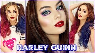 Harley Quinn Makeup & Hair Tutorial | Suicide Squad