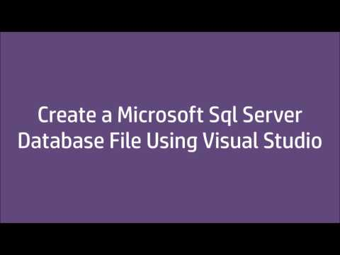 Create Sql Server Database File Using VisualStudio 2015