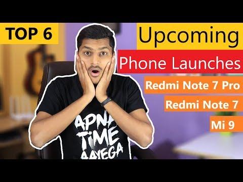 Upcoming Smartphone Launches in India, Redmi Note 7 Pro, Samsung M30, Vivo V15 Pro, xiaomi Mi 9 Mp3