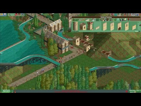 Let's Play Roller Coaster Tycoon 2 - Episode 9 LIM Coaster & Splash Boats  by Theme Park Worldwide