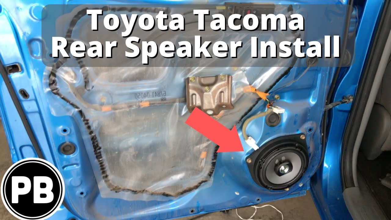 hight resolution of 2005 2015 toyota tacoma rear door speaker install pioneer 6 5