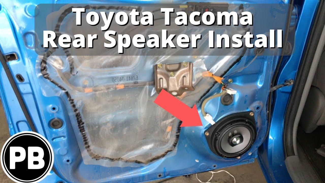 2005 2015 toyota tacoma rear door speaker install pioneer 6 5 youtube. Black Bedroom Furniture Sets. Home Design Ideas