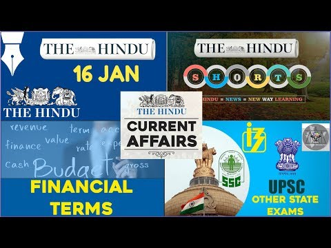 CURRENT AFFAIRS | THE HINDU | 16th January 2018 Part 1 | UPSC,IBPS, RRB, SSC,CDS,IB,CLAT