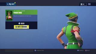 **NEW** NEW TINSELTOES SKIN + NEW EMOTE! FORTNITE ITEM SHOP DECEMBER 21, 2018
