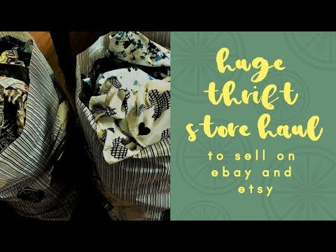Thrift Store Clothing Haul to Sell on Ebay! | Spent $2.90 a Piece | Winter Thrift Haul