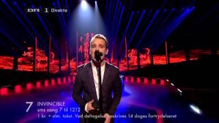 Jack Rowan ft. Sam Gray - Invincible (Dansk Melodi Grand Prix 2013)