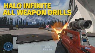 Halo Infinite Gameplay - All Weapon Drills