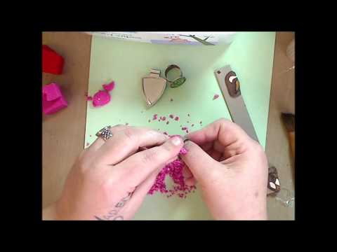 How to- Polymer Clay ring- Faux Druzy Stone tutorial