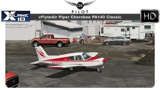 [X-Plane] vFlyteAir Piper Cherokee PA140 Classic | Test Flight