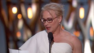 Repeat youtube video Patricia Arquette winning Best Supporting Actress