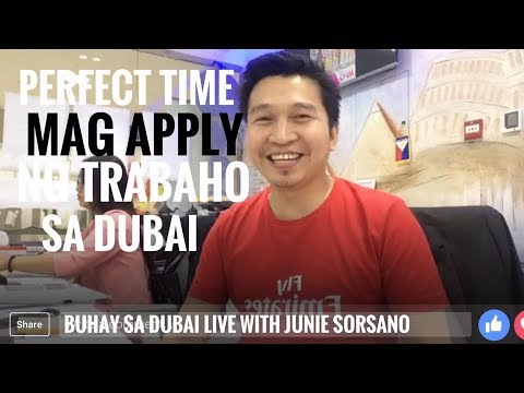 PERFECT TIME NA MAG APPLY NG TRABAHO SA DUBAI (via FB Live)