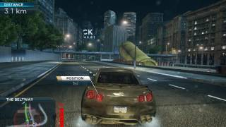 Taking out Most Wanted 4 with Nissan GT R Egoist NFS MW 2012