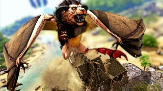 The MEGA MANTICORE Boss Spawned Right On My Base! | ARK Modded Annunaki #30