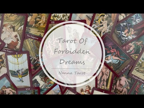 開箱  禁忌之夢塔羅牌 • Tarot Of Forbidden Dreams // Nanna Tarot