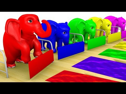 Learn Colors With Hathi Raja Elephant |  colours for kids