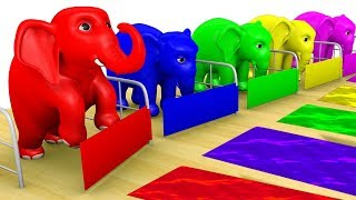 Learn Color Elephant Shed Surprise Animal  Cartoon Nursery Rhymes for Children Rhymes Tv