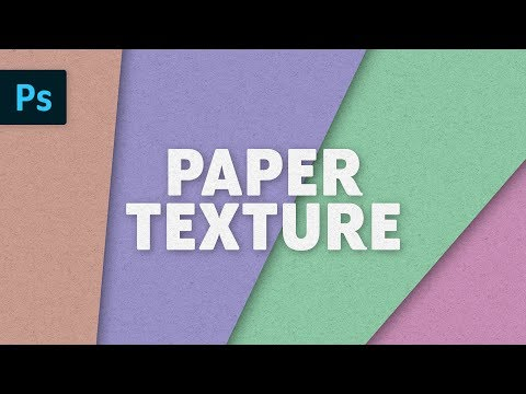 Paper Texture Effect | Photoshop Tutorial