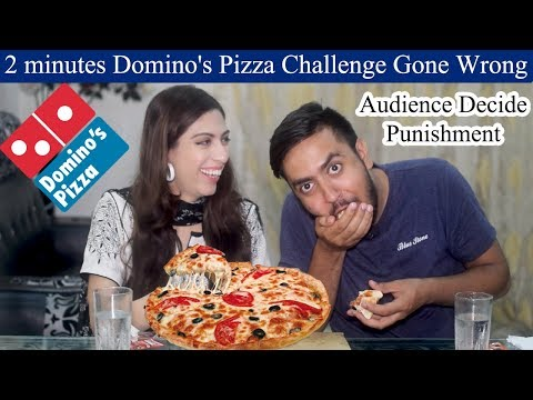 Pizza Challenge Gone Wrong | Domino's Large Pizza Eating Challenge | Food Challenge