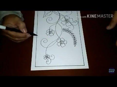 Cara Menggambar Sketsa Motif Batik Sketsa 28 Youtube