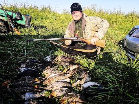 Открытие охоты в Сибири. Стреляли как из пулемета.