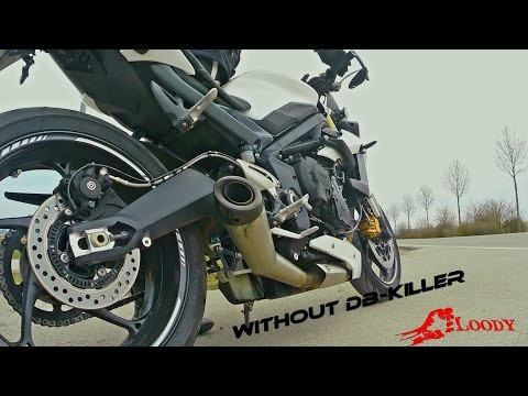 Street Triple Sc Project without DB-Killer Sound Check