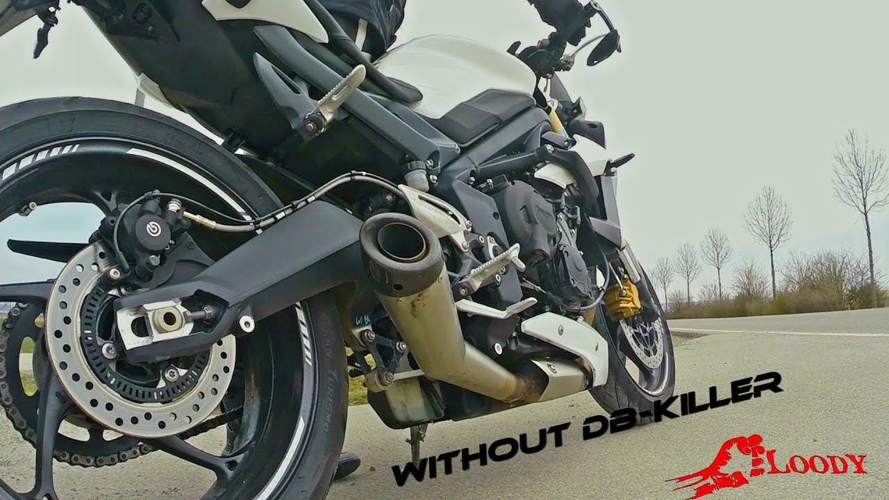 Street Triple Sc Project Without Db Killer Sound Check Youtube