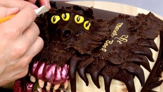 How To Make A HARRY POTTER S Book Of Monsters Cake By Cakes StepbyStep