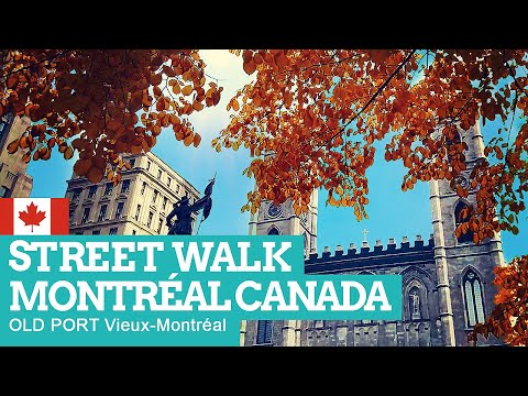 STREET WALK In MONTRÉAL Canada | Old Port [NON-STOP] Day+Night