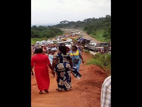 Several dead as trailer crushes commercial bus along Benin Express