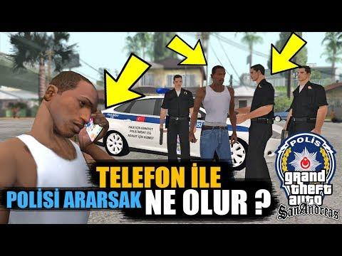 GTA SAN ANDREAS TELEFON İLE POLİSİ ARARSAK NE OLUR?