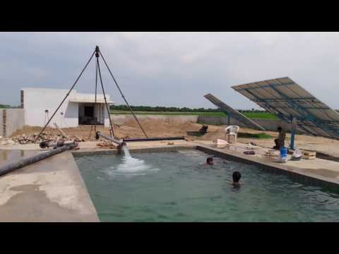Solar tube well of Ansar Khan Alizai at Kalur kot Punjab Pakistan