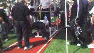 LenDale White Bench Press at USC's Pro Day
