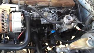 Volvo 740 Diesel D24 engine sound