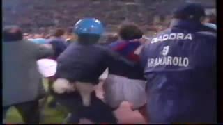 Bologne 1-1 OM demi finale 98 99 incidents après match