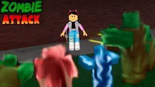 ROBLOX-FLEEING THE ZOMBIES (Zombie Attack) | Luluca Games