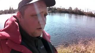 Рыбалка на реке Луга Первый блин комом