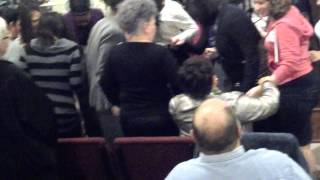 "Family singing ""Oh, The Blood"" - Victory Life Church"