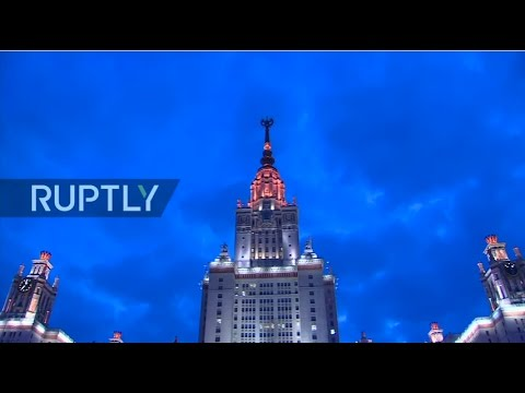 LIVE: Fireworks go off in Moscow to mark anniversary of Crimea's reunification with Russia