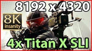 Crysis 3 8K gameplay - 4-way Titan X SLI 8K resolution