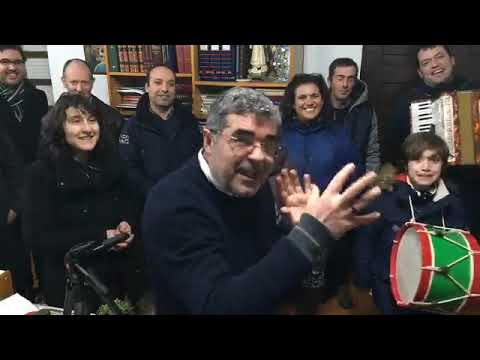 Amigos do Centro Social Arco Íris de Paradela Paróquia de Espinhel vieram cantar as janeiras ao Páro