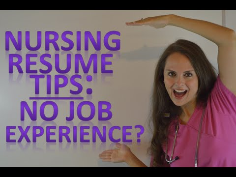 Nursing Resume New Nurse Tips for Graduates with No Job Experience